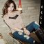 เสื้อแฟชั่น เสื้อแขนยาว พอดีตัว สีน้ำตาล แต่งผ้าบางช่วงอก thumbnail 5